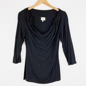 Deletta Anthropologie Sadie Ruffle Shirt Small
